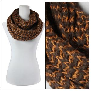 Wholesale  Brown Infinity Scarves - Jagged Stripe 4326* -