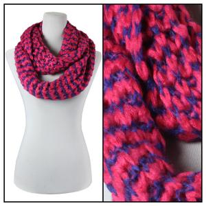 Infinity Scarves - Jagged Stripe 4326* Pink -