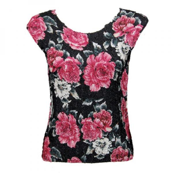 wholesale Magic Crush Cap Sleeve Tops Pink Floral - One Size (S-L)