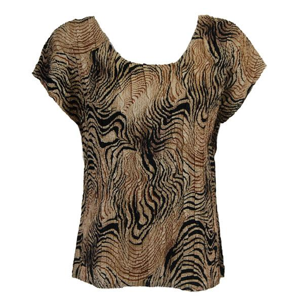 wholesale Magic Crush Cap Sleeve Tops Swirl Animal  - One Size (S-L)