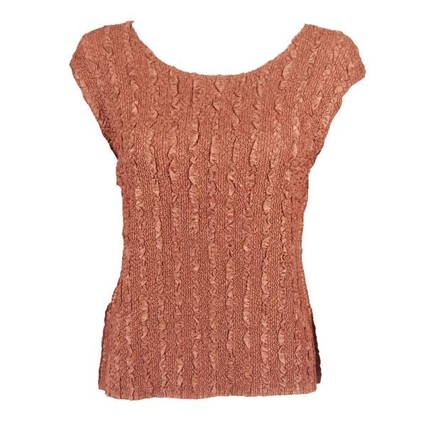 wholesale Magic Crush Cap Sleeve Tops Solid Brass-B - One Size (S-L)