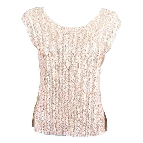 wholesale Magic Crush Cap Sleeve Tops Solid Champagne-B - Plus Size Fits (XL-2X)
