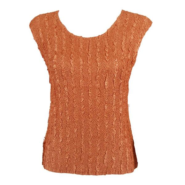 wholesale Magic Crush Cap Sleeve Tops Solid Copper-B - Plus Size Fits (XL-2X)