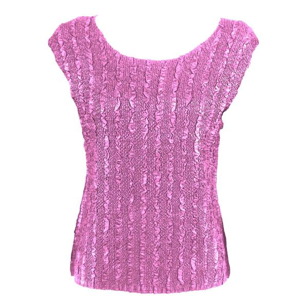 wholesale Magic Crush Cap Sleeve Tops Solid Dusty Rose-B - One Size (S-L)