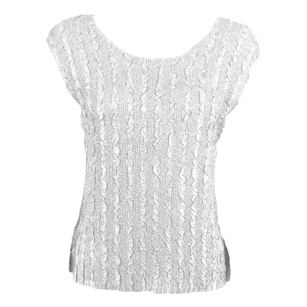 wholesale Magic Crush Cap Sleeve Tops Solid Ivory-B - One Size (S-L)