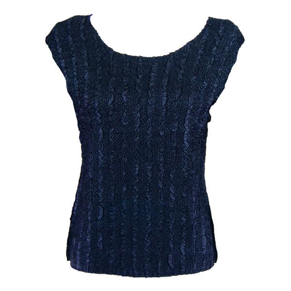 wholesale Magic Crush Cap Sleeve Tops Solid Midnight-B - One Size (S-L)