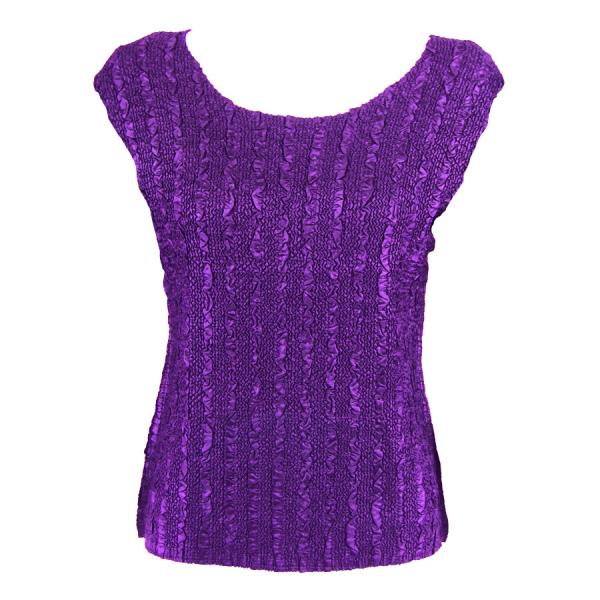 wholesale Magic Crush Cap Sleeve Tops Solid Purple-B - One Size (S-L)
