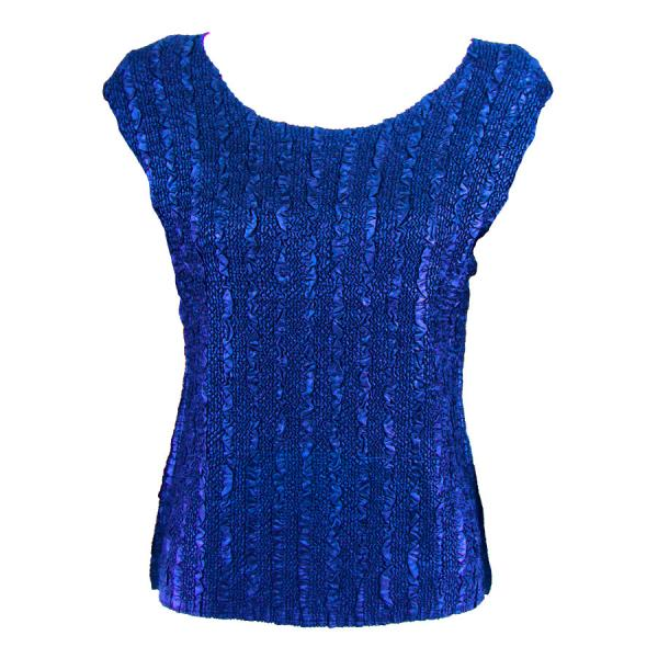 wholesale Magic Crush Cap Sleeve Tops Solid Royal-B - One Size (S-L)