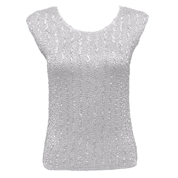 wholesale Magic Crush Cap Sleeve Tops Solid White-B - One Size (S-L)