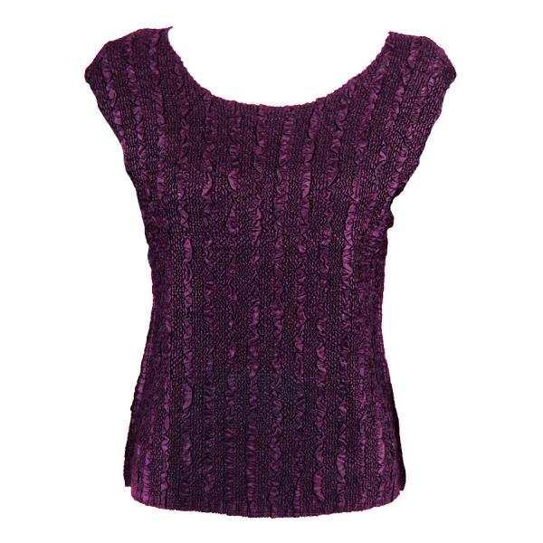 wholesale Magic Crush Cap Sleeve Tops Solid Plum-B - One Size (S-L)