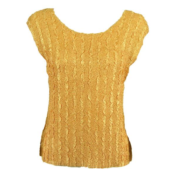 wholesale Magic Crush Cap Sleeve Tops Solid Gold-B - Plus Size Fits (XL-2X)