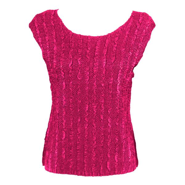 wholesale Magic Crush Cap Sleeve Tops Solid Hot Pink-B - Plus Size Fits (XL-2X)