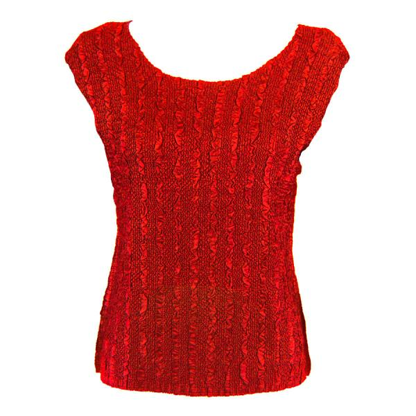 wholesale Magic Crush Cap Sleeve Tops Solid Red-B - Plus Size Fits (XL-2X)