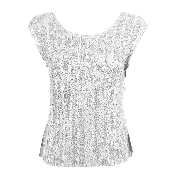 wholesale Magic Crush Cap Sleeve Tops Solid Silver-B - Plus Size Fits (XL-2X)