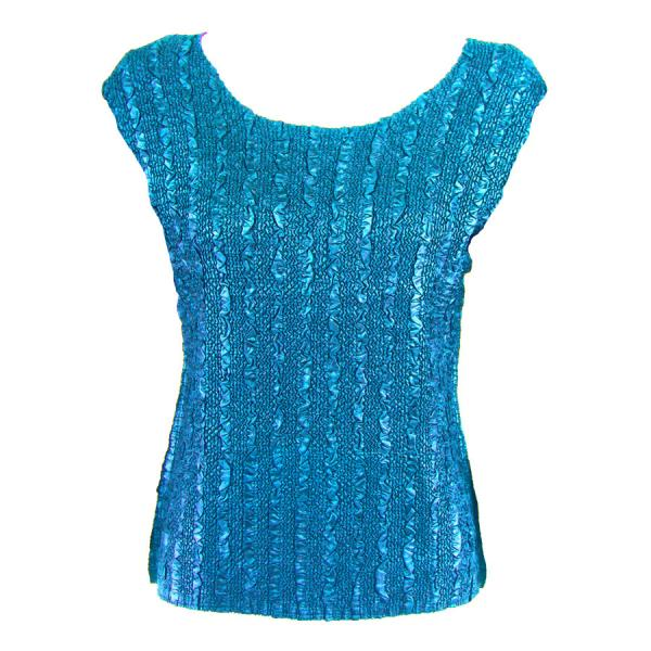 wholesale Magic Crush Cap Sleeve Tops Solid Turquoise-B - Plus Size Fits (XL-2X)