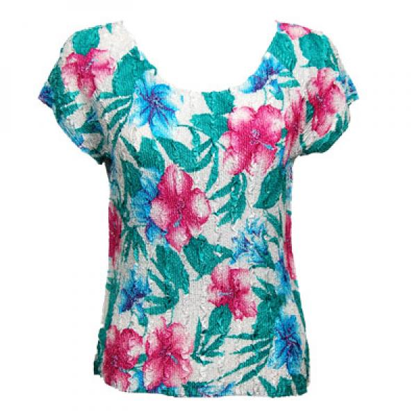 wholesale Magic Crush Cap Sleeve Tops Bright Bouquet - One Size (S-L)