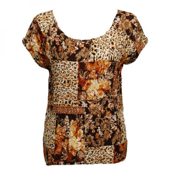 wholesale Magic Crush Cap Sleeve Tops Multi Animal Floral - One Size (S-L)