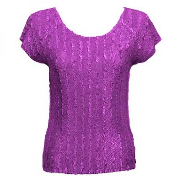 wholesale Magic Crush Cap Sleeve Tops Solid Raspberry Sherbet-A - One Size (S-L)