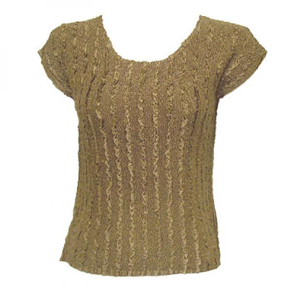 wholesale Magic Crush Cap Sleeve Tops Solid Taupe-A - One Size (S-L)
