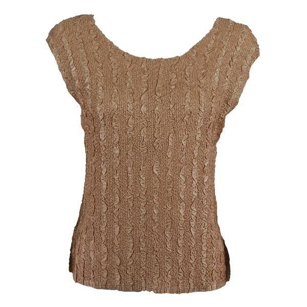 wholesale Magic Crush Cap Sleeve Tops Solid Light Beige-B - One Size (S-L)