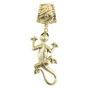 wholesale Scarf Pendants  #082 Gold Gecko (Hinged Tube) -
