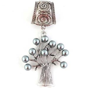 wholesale Scarf Pendants  #132 Tree w/ Grey Pearls ((Hinged Tube) Locate -