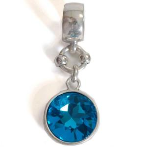 wholesale Scarf Pendants  #S387 Turquoise Crystal (MB) -