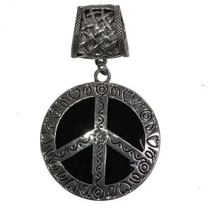 wholesale Scarf Pendants  #156 Peace Sign (Hinged Tube) -