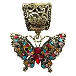 wholesale Scarf Pendants  #010 Butterfly (Hinged Tube) -