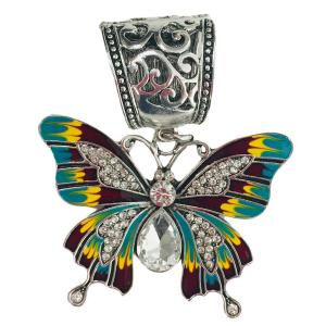 wholesale Scarf Pendants  #164 Butterfly Pendant (Hinged Tube) -