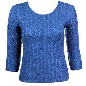 wholesale Magic Crush Three Quarter Sleeve Tops Solid Navy-B Two Ply - One Size (S-L)