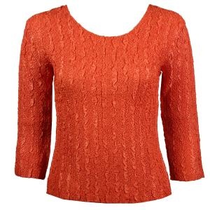 wholesale Magic Crush Three Quarter Sleeve Tops Solid Orange-B Two Ply - One Size (S-L)