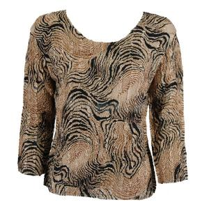 wholesale Magic Crush Three Quarter Sleeve Tops Swirl Animal Two Ply - Plus Size Fits (XL-2X)