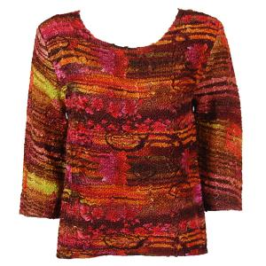 wholesale Magic Crush Three Quarter Sleeve Tops Desert Print - Mauve (#021A) - One Size (S-L)