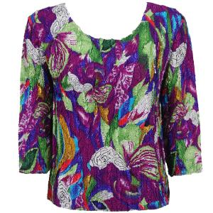 wholesale Magic Crush Three Quarter Sleeve Tops Magenta Fantasy (#208A)  - One Size (S-L)