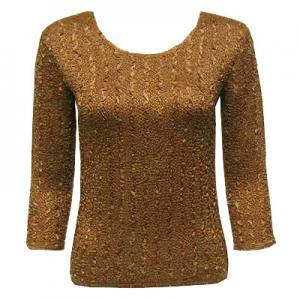 wholesale Magic Crush Three Quarter Sleeve Tops Solid Antique Bronze-A - One Size (S-L)
