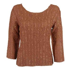 wholesale Magic Crush Three Quarter Sleeve Tops Solid Brass-A - One Size (S-L)