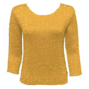 wholesale Magic Crush Three Quarter Sleeve Tops Solid Gold-A - One Size (S-L)
