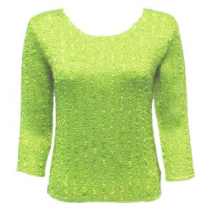 wholesale Magic Crush Three Quarter Sleeve Tops Solid Leaf Green-A - One Size (S-L)