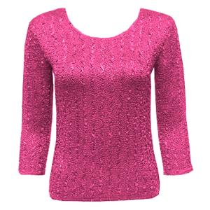 wholesale Magic Crush Three Quarter Sleeve Tops Solid Magenta-A - One Size (S-L)