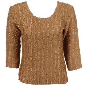 wholesale Magic Crush Three Quarter Sleeve Tops Solid Natural-A - One Size (S-L)
