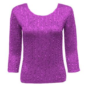 wholesale Magic Crush Three Quarter Sleeve Tops Solid Raspberry Sherbet-A - One Size (S-L)