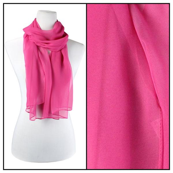 Silky Dress Scarves Solid Magenta -
