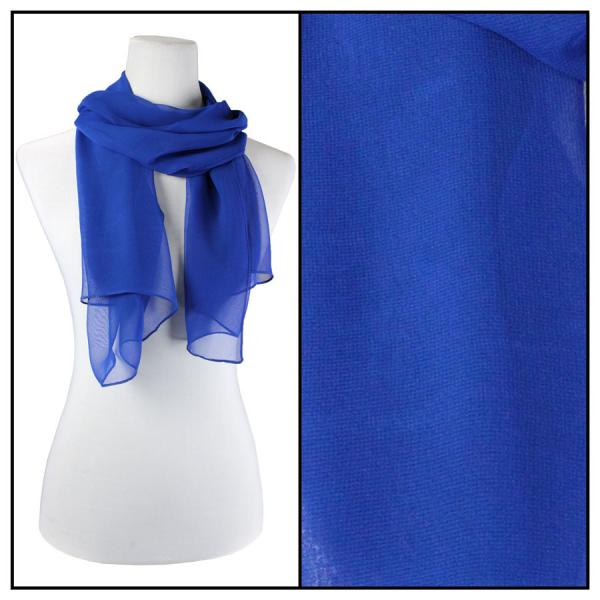 Silky Dress Scarves Solid Royal S10 -