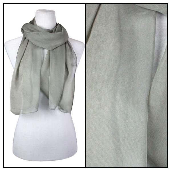 Silky Dress Scarves Solid Grey S11 MB -
