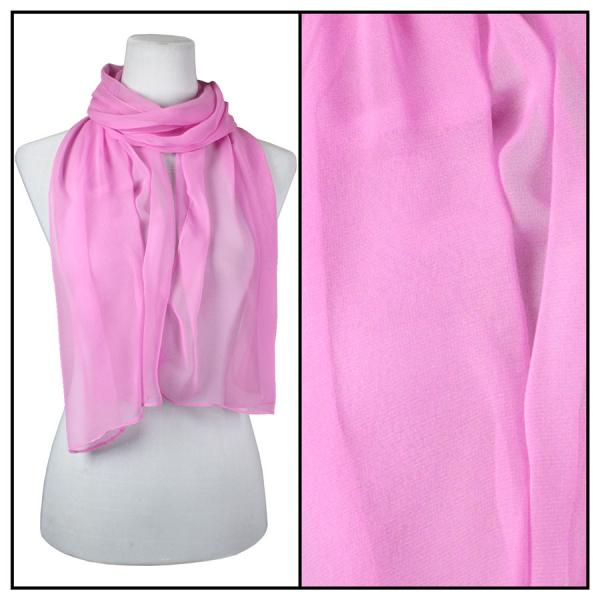Silky Dress Scarves Solid Raspberry S12 -