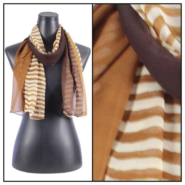 Silky Dress Scarves N113 Brown MB -