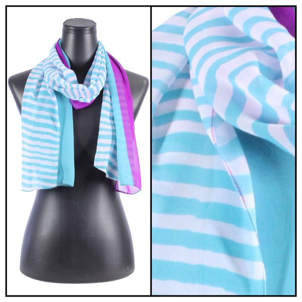 Silky Dress Scarves N113 Teal -