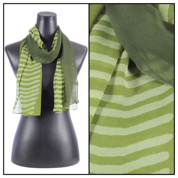 Silky Dress Scarves N113 Olive -