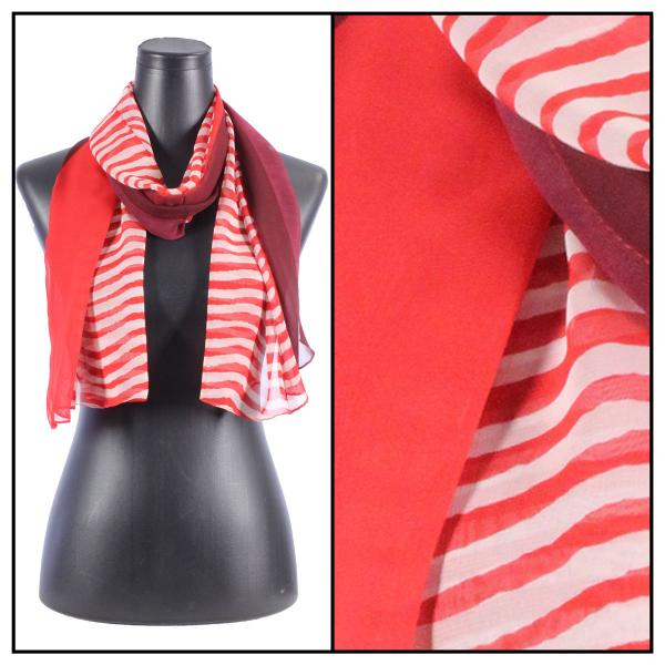 Silky Dress Scarves N113 Red -